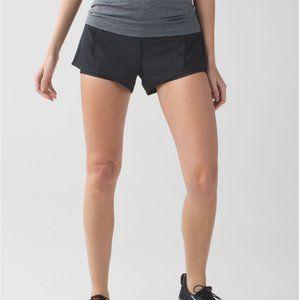 lululemon Mesh It Up Black Workout Shorts Size 4